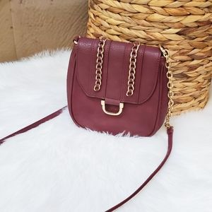 Charming Charlie burgundy crobody bag